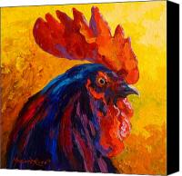 Chicken Canvas Prints - Cocky - Rooster Canvas Print by Marion Rose