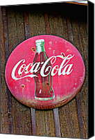 Signage Photo Canvas Prints - Coco Cola sign Canvas Print by Garry Gay