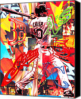 Red Sox Mixed Media Canvas Prints - Coco Canvas Print by Kevin Newton