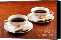 Yummy Food Canvas Prints - Coffee and Cookies Canvas Print by Darren Fisher