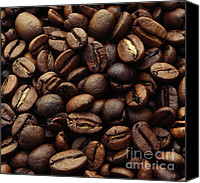 Color Photography Canvas Prints - Coffee beans Canvas Print by Kristin Kreet