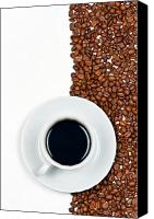 Spoon Canvas Prints - Coffee Canvas Print by Gert Lavsen