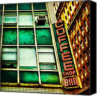 Nyc Canvas Prints - Coffee Shop Bar Canvas Print by Luke Kingma