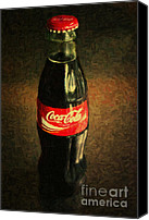 Soda Canvas Prints - Coke Bottle Canvas Print by Wingsdomain Art and Photography
