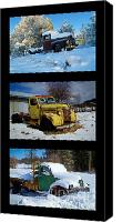 Old Trucks Canvas Prints - Cold Guys Canvas Print by Idaho Scenic Images Linda Lantzy