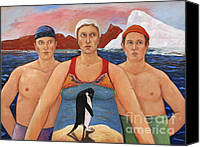 Naturalistic Canvas Prints - Cold Water Swimmers Canvas Print by Paula Wittner