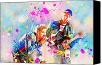 Rock Music Canvas Prints - Coldplay Canvas Print by Rosalina Atanasova