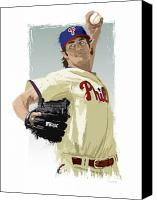 All Star Digital Art Canvas Prints - Cole Hamels Canvas Print by Scott Weigner