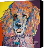 Pet Portrait Pastels Canvas Prints - Cole Canvas Print by Pat Saunders-White
