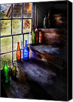 Bottles Canvas Prints - Collector - Bottle - A collection of bottles Canvas Print by Mike Savad