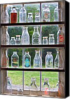 Got Canvas Prints - Collector - Bottles - Milk Bottles  Canvas Print by Mike Savad