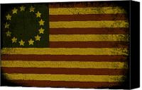 Continental Army Canvas Prints - Colonial Flag Canvas Print by Bill Cannon