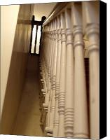 Balusters Canvas Prints - Colonial Staircase Opus 3 Canvas Print by Katherine Howard