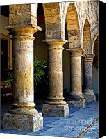 Tlaquepaque Canvas Prints - Colonnades Canvas Print by Olden Mexico