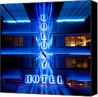 Dave Canvas Prints - Colony Hotel II Canvas Print by David Bowman