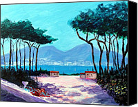 Amalfi Coast Canvas Prints - Color and light of the mediterranean Canvas Print by Larry Cirigliano