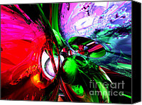 Christmas Carnival Canvas Prints - Color Carnival Abstract Canvas Print by Alexander Butler