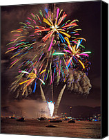 Fire Works Canvas Prints - Color Explosion Canvas Print by Michael  Ayers