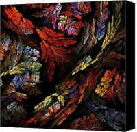 Black Framed Prints Digital Art Canvas Prints - Color Harmony Canvas Print by Oni H