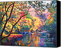 Fall Leaves Canvas Prints - Color Reflections Plein Aire Canvas Print by David Lloyd Glover
