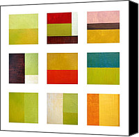 Backdrop Canvas Prints - Color Study Abstract Collage Canvas Print by Michelle Calkins