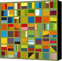 Abstract Canvas Prints - Color Study Collage 64 Canvas Print by Michelle Calkins