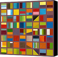  Backdrop Canvas Prints - Color Study Collage 65 Canvas Print by Michelle Calkins