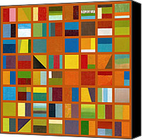 Backdrop Canvas Prints - Color Study Collage 66 Canvas Print by Michelle Calkins