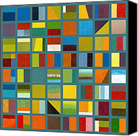  Backdrop Canvas Prints - Color Study Collage 67 Canvas Print by Michelle Calkins