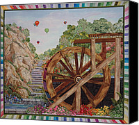 Greeting Cards Tapestries - Textiles Canvas Prints - Color Wheel Canvas Print by Kathy McNeil