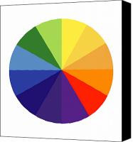 Color Harmony Canvas Prints - Color Wheel Canvas Print by SPL and Photo Researchers