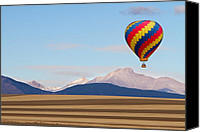 Hot Air Balloon Canvas Prints - Colorado Ballooning Canvas Print by James Bo Insogna