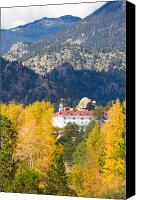 Autumn Photographs Canvas Prints - Colorado Estes Park Stanly Hotel Autumn View Canvas Print by James Bo Insogna
