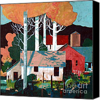 Mjonesart Canvas Prints - Colorado Farm Canvas Print by Micheal Jones