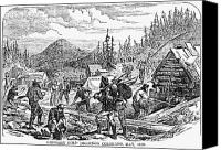 Cabin Canvas Prints - Colorado: Gold Mining, 1859 Canvas Print by Granger