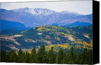 Autumn Photographs Canvas Prints - Colorado Rocky Mountain Autumn View Canvas Print by James Bo Insogna
