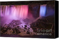 Long Canvas Prints - Colorful American Falls Canvas Print by Adam Romanowicz