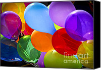 Celebrating Canvas Prints - Colorful balloons Canvas Print by Elena Elisseeva