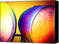 Print Special Promotions - Colorful Barrels Canvas Print by Cynthia Edwards