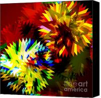 Blade Canvas Prints - Colorful Blade Canvas Print by Atiketta Sangasaeng