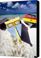 Beach Canvas Prints - Colorful Boats on  Eagle Beach  Aruba Canvas Print by George Oze