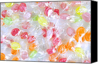 Snack Canvas Prints - Colorful Candies Canvas Print by Carlos Caetano