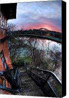 City Of Bridges Photo Canvas Prints - Colorful Cleveland Canvas Print by Joshua Ball