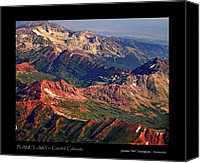 Greeting Card Canvas Prints - Colorful Colorado Rocky Mountains Planet Art Poster  Canvas Print by James Bo Insogna