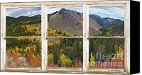 Fine Art Print Photo Canvas Prints - Colorful Colorado Rustic Window View Canvas Print by James Bo Insogna