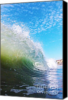 Surfers Canvas Prints - Colorful Curl Canvas Print by Paul Topp