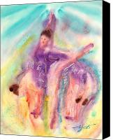 Ballet Art Canvas Prints - Colorful Dance Canvas Print by John Yato