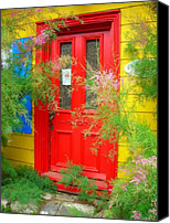 Entrance Door Canvas Prints - Colorful Entrance ... Canvas Print by Juergen Weiss