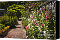 Walkway Canvas Prints - Colorful flower garden Canvas Print by Elena Elisseeva