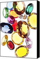 Stone Jewelry Canvas Prints - Colorful Gems Canvas Print by Setsiri Silapasuwanchai